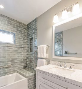 roberts Electric won a 2019 Remmie award for this Piedmont bathroom makeover
